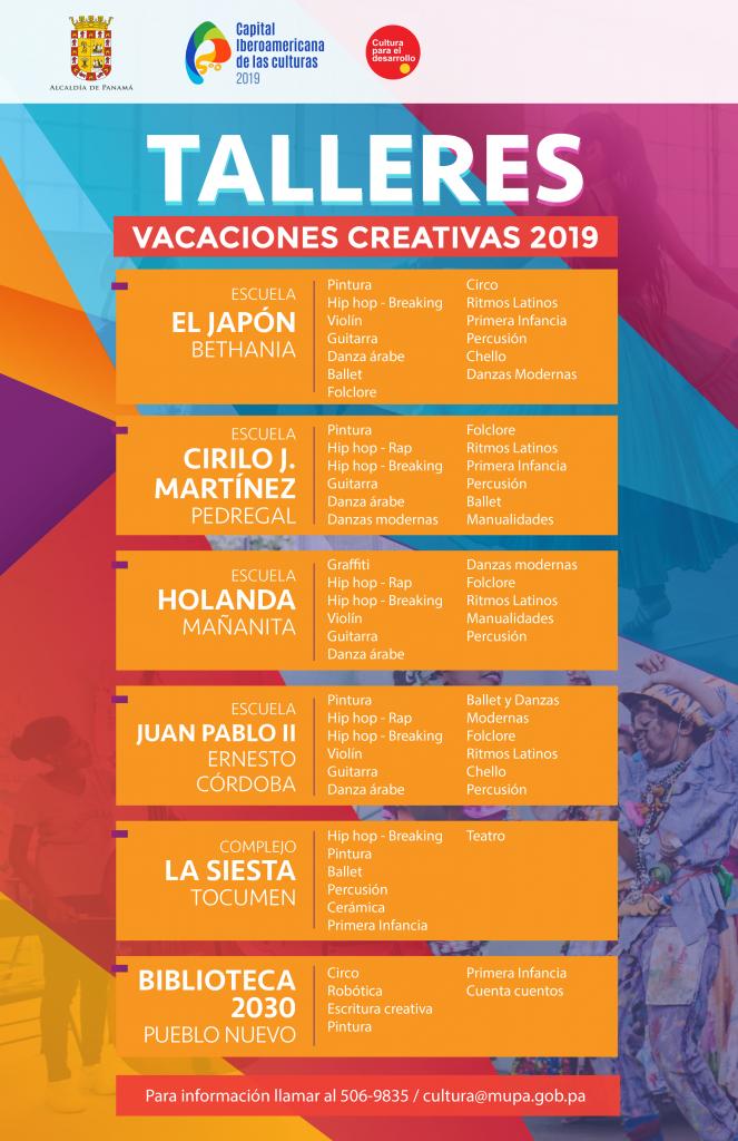 Vacaciones Creativas Alcaldia De Panama