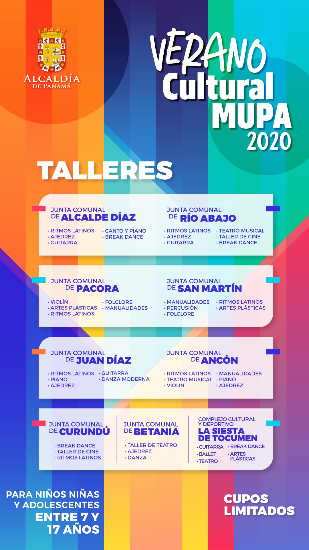 """Inscripciones abiertas para el """"Verano Cultural 2020"""""""