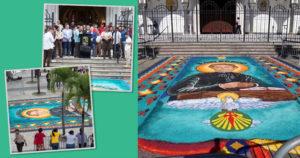 Alfombra de sal en honor a San Juan Bosco.