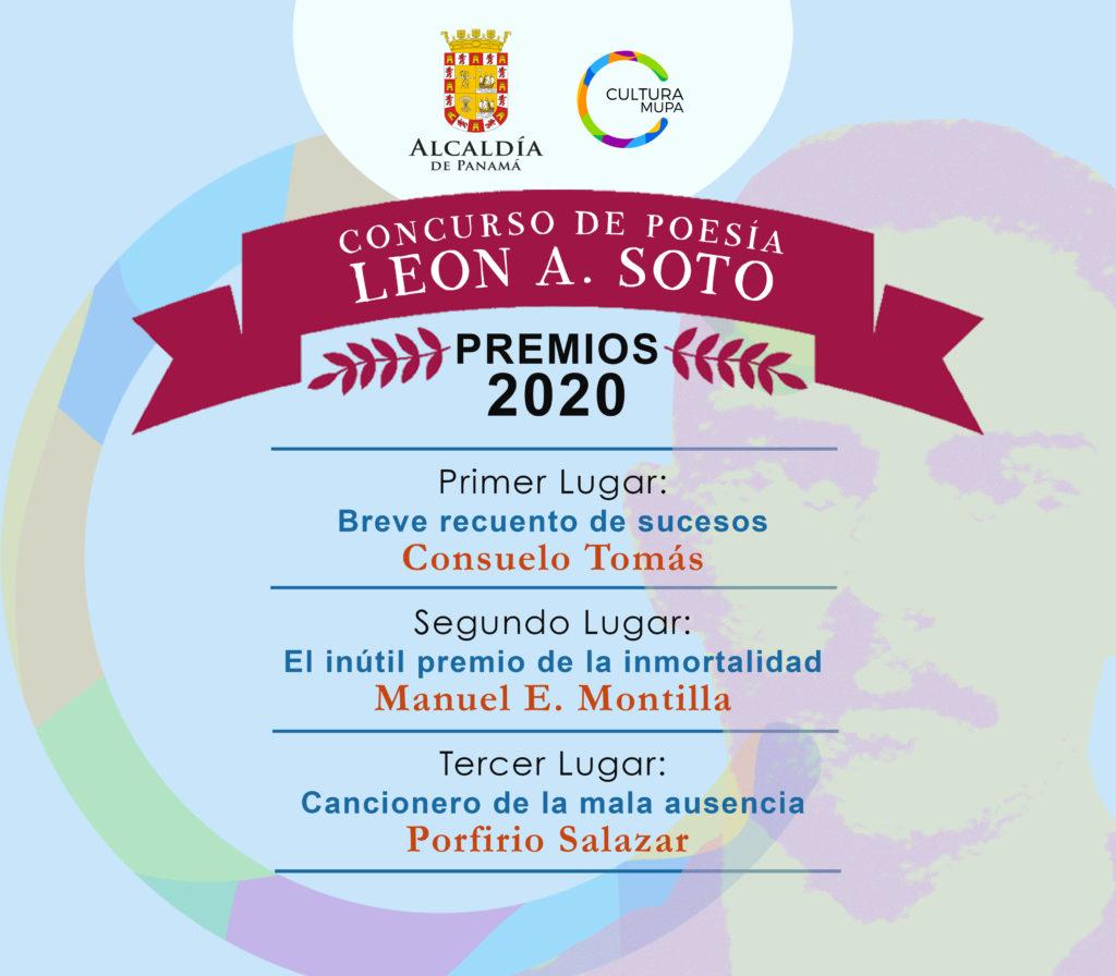 """Fallo del Concurso Municipal de Poesía """"León A. Soto"""" 2020"""