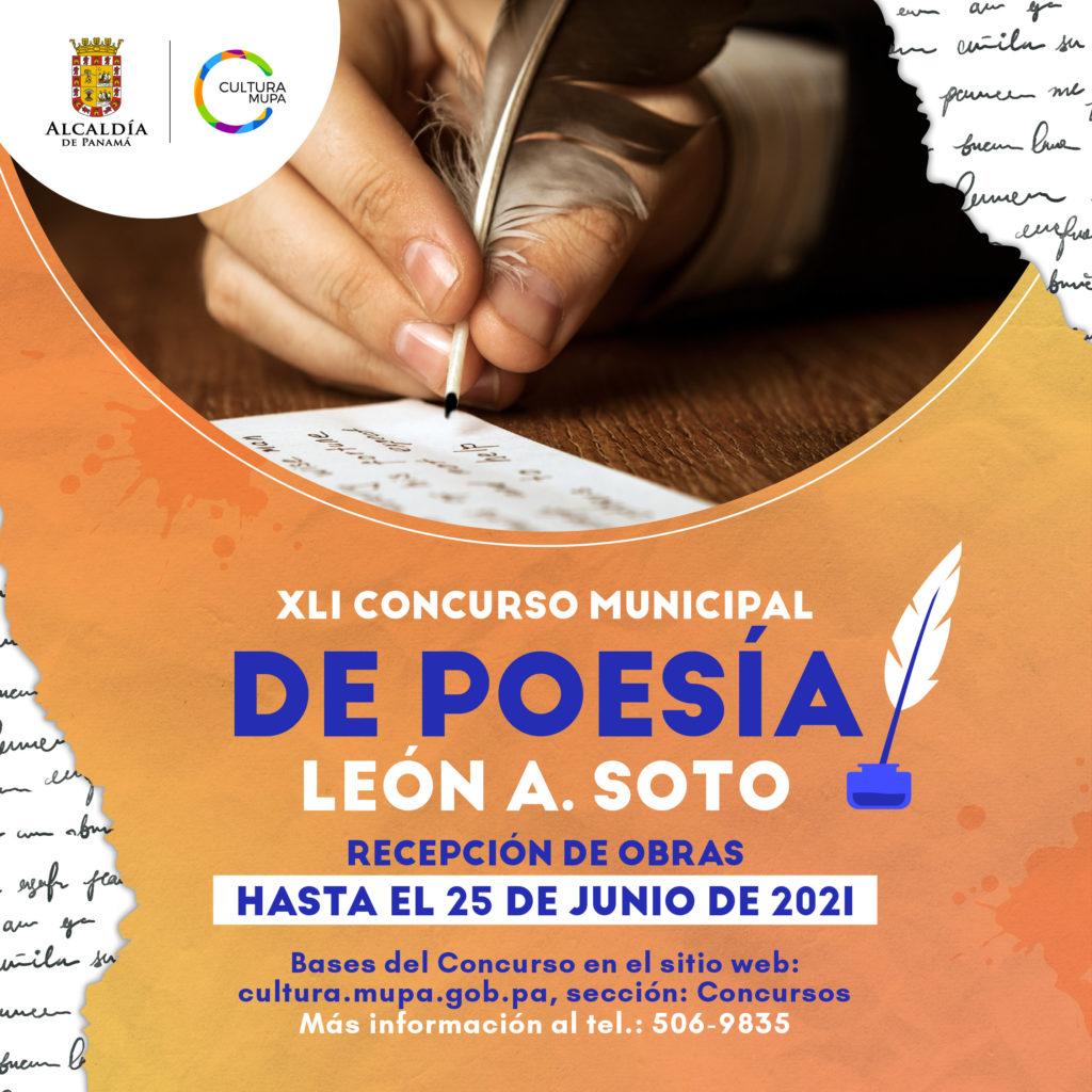 XLI Concurso Municipal de Poesía León A. Soto.